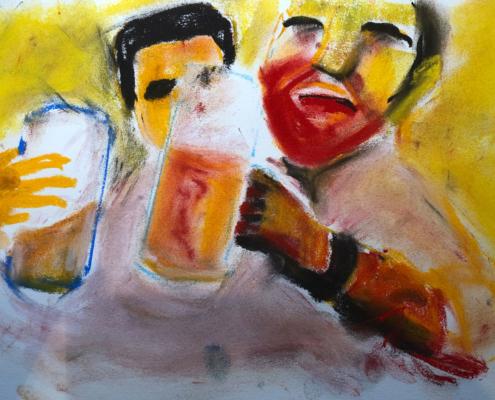 En kveld hadde han vært på byen med gutta for å drikke øl.